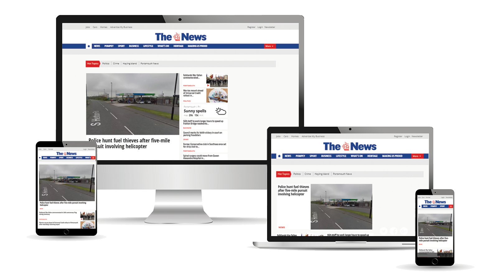 Advertise across desktop, tablet and mobile with The News